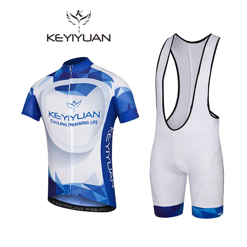 KEYIYUAN Blue Maillot Bike Cycling Jersey Suits Pro Cycling Clothing Set   MTB Bicycle Wear Ciclismo 78661ffe7