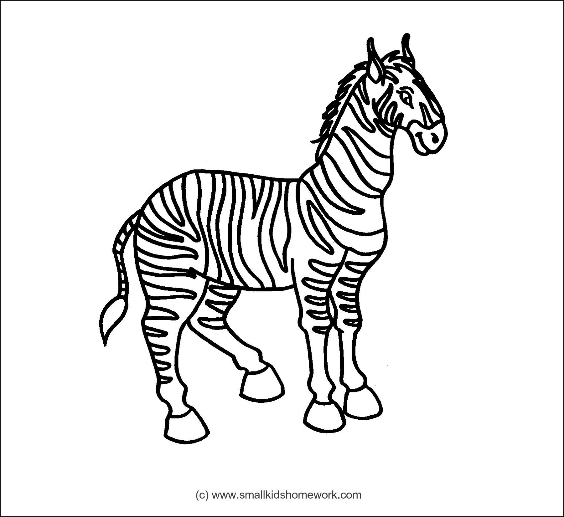 Zebra Outline Picture | Outline Pictures | Pinterest | Outline pictures