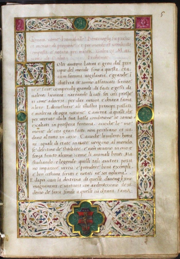 Cronaca di Galeazzo Marescotti de' Calvi. Poemetto latino di Tommaso Seneca e versi di Tribraco Modenese - Biblioteca dell'Archiginnasio