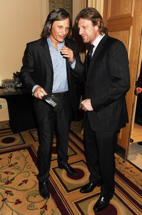 Viggo Mortensen And Sean Bean Sean Bean Viggo Mortensen The Hobbit