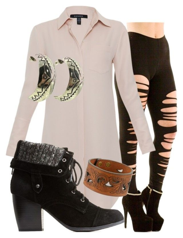 """""""Untitled #283"""" by hope-lopez on Polyvore featuring Xander, Charlotte Russe and M&F Western"""