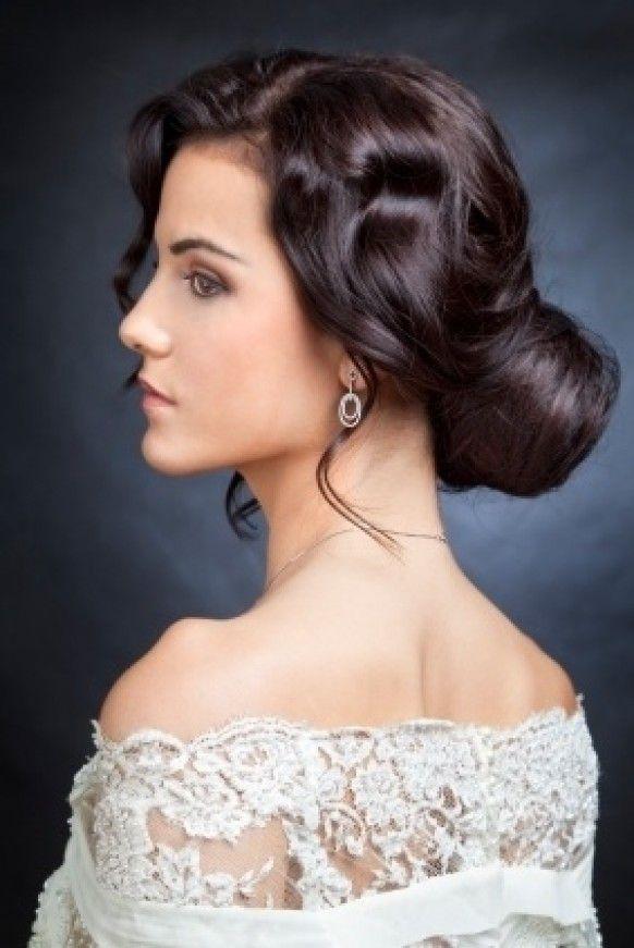 Cheveux Hairstyle Coiffures de mariage ondulées