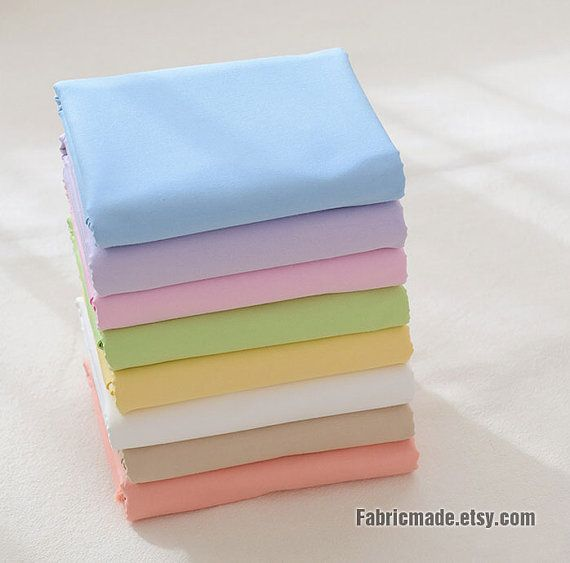 Clotheslining Sales 41 Colors Solid Cotton Fabric Blue Pink Yellow Fabric Cotton