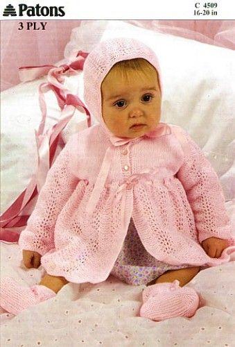 Vintage Patons Baby Knitting Patterns | knits | Pinterest ...