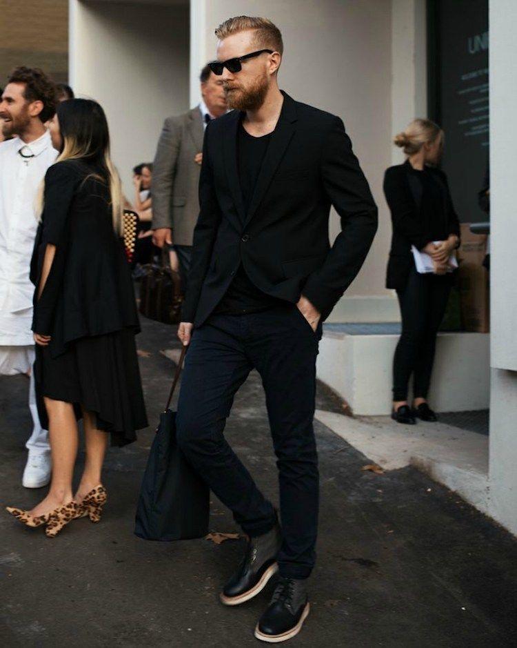 cdcd2328a5547 beautiful alerte mode masculine le blazer homme se porte avec un jean et  avec une trs grande assurance with blazer noir homme
