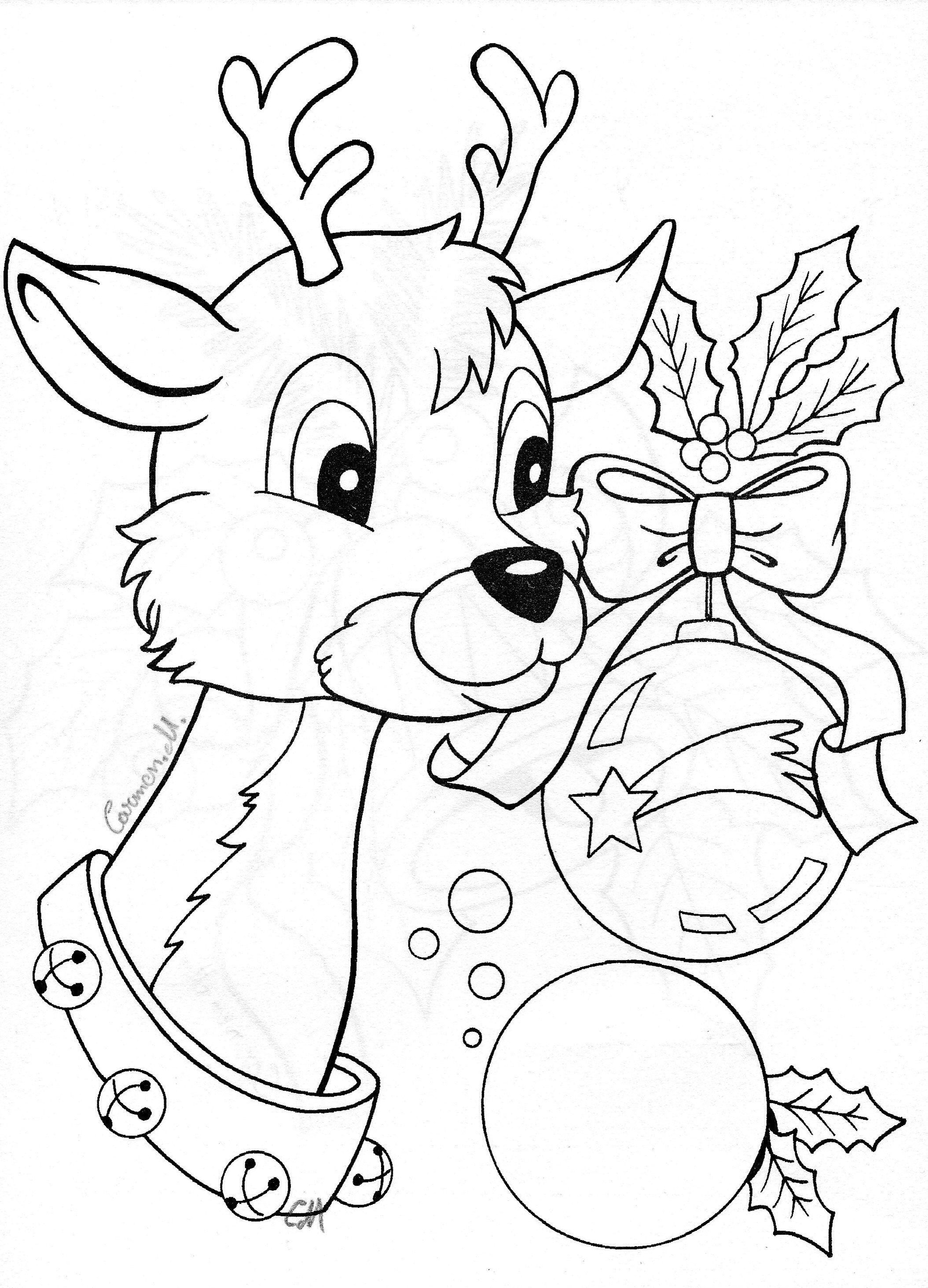 Reindeer (mit Bildern)  Weihnachtsmalvorlagen, Weihnachtsfarben