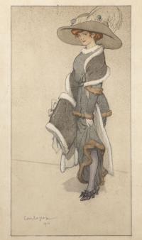 Charles PEZEU, (Pampelonne, 1875 - Paris, 1917), Jeune femme debout, 1910, Inv. RO 1001. Non exposée. © Toulouse, musée des Augustins – Photo Daniel Martin