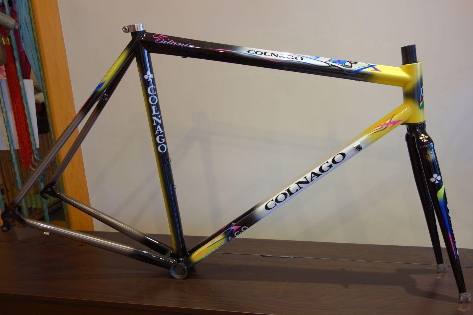 Colnago Titanio with steel fork, via The Paceline | bike | Pinterest