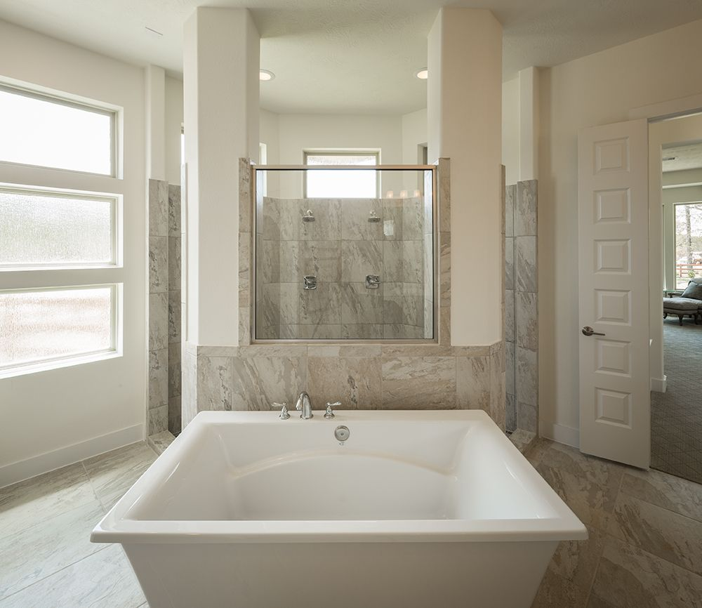 Model Home Bathroom Love This Lightfilled Master Bath In Our Model Home In Fulshear