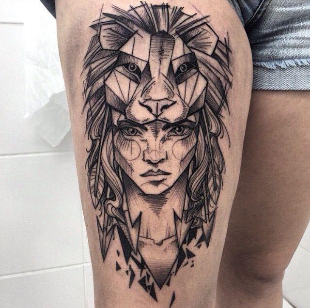 Lioness More Tatuagem Tatuagem De Manga Tatuagens Exclusivas