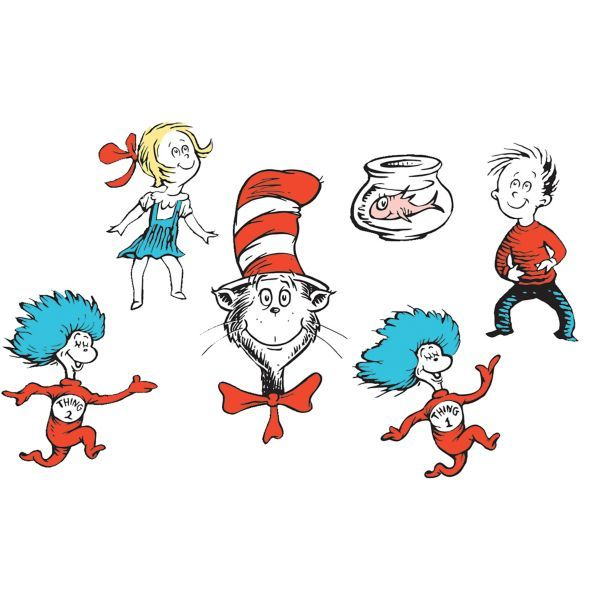 Cat In The Hat Character Cutouts 6ct Cat In The Hat