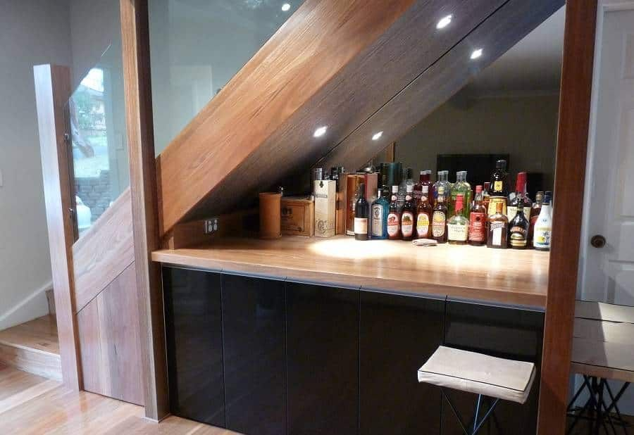 Home Design and Decor , Under Stair Design With Mini Bar