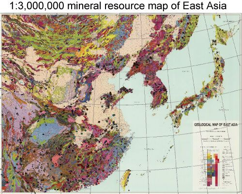mineral resources map east asia