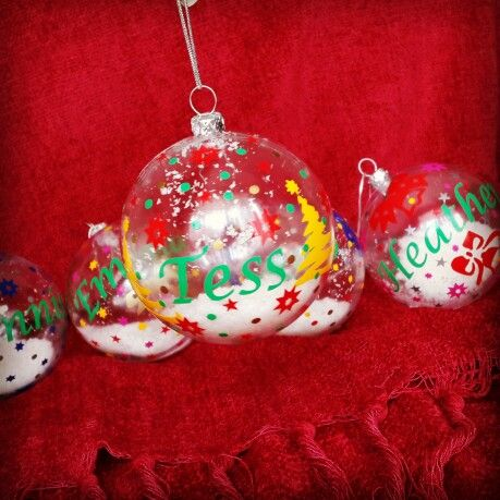 Personalised Christmas Baubles Unique Personalized Xmas