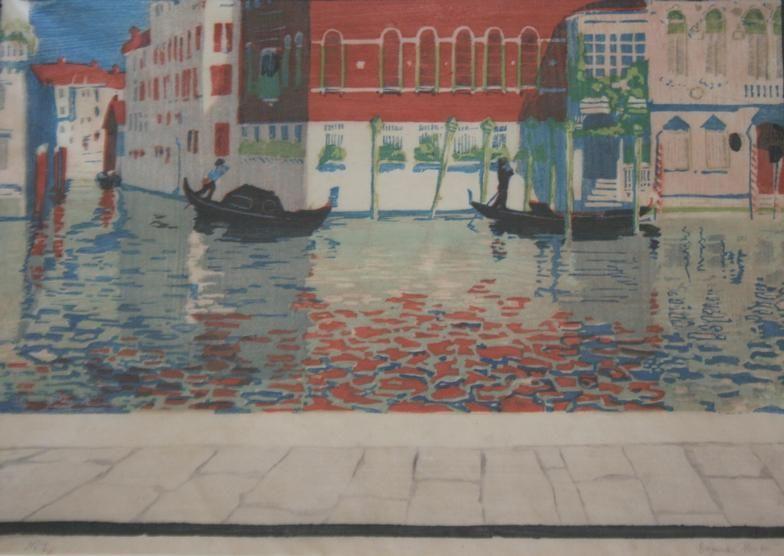 Wimpelkette - Farbholzschnitt - Dagmar Hooge (1870-1930)