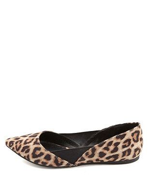 69d7a3f85cea Qupid Leopard Print Pointed Toe Flats: Charlotte Russe | shoes ...