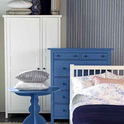 Schlafzimmer skandinavischer stil  Schlafzimmer im Skandinavischen Stil: Schlafzimmer in Blau und Weiß ...