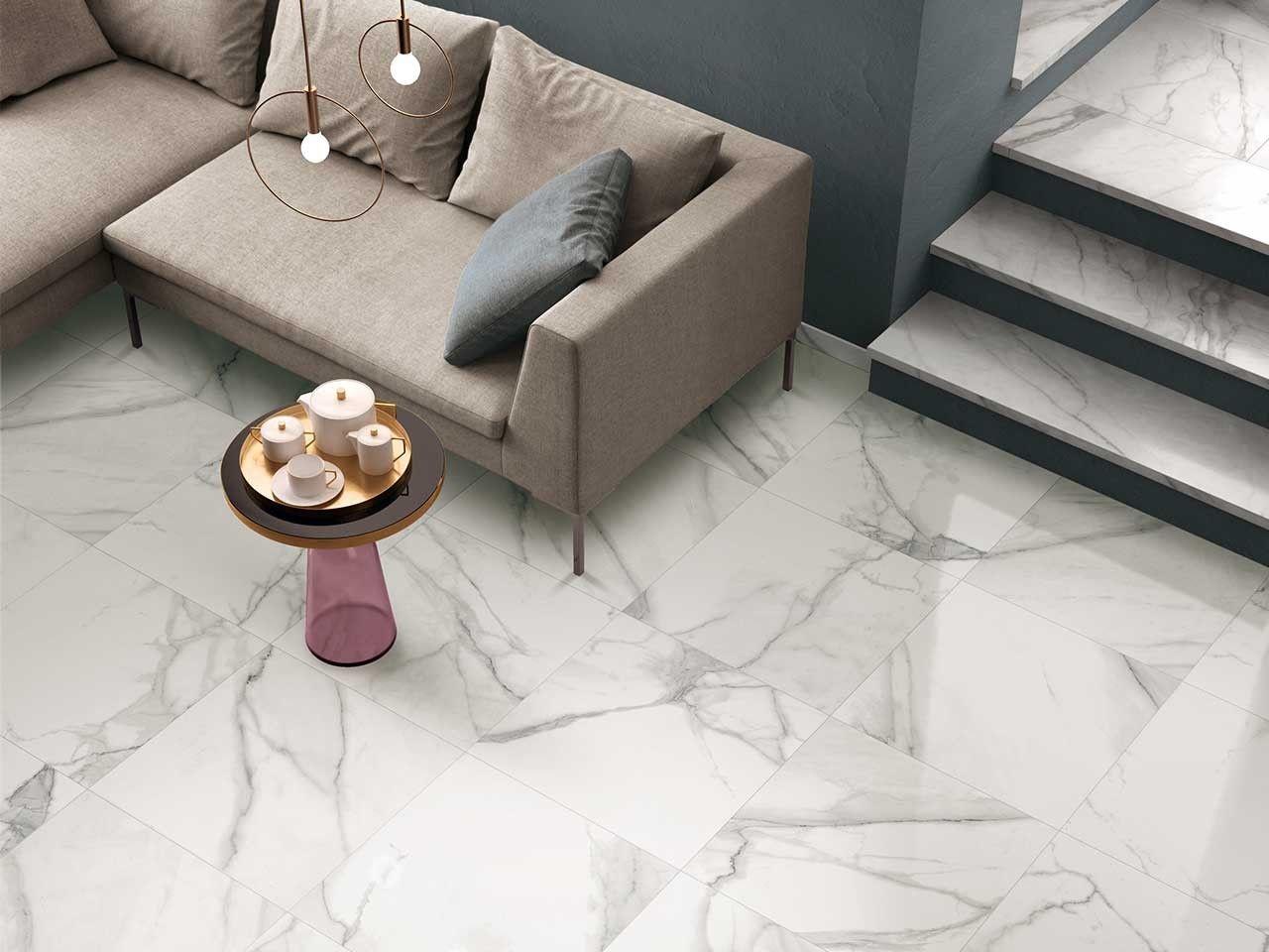 Pavimento Finto Marmo Lucido gres porcellanato lappato effetto marmo vissuto nobles