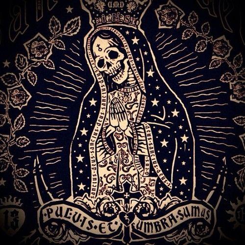 Danielmartindiaz Santa Muerte Poster At Sacred Machine Day Of