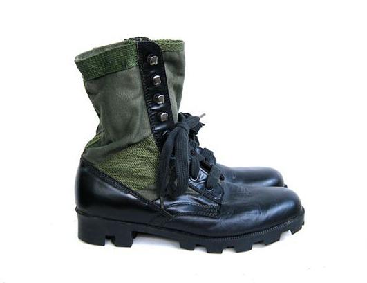 Army Green Combat Boots Tsaa Heel