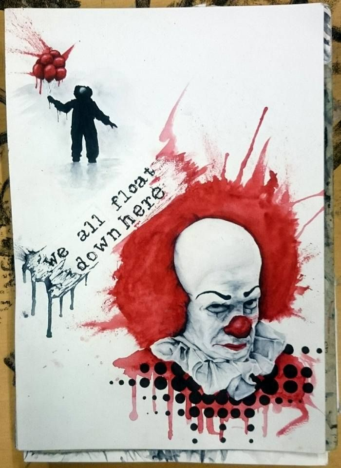 Pennywise the dancing clown. A trash polka fan art of ...