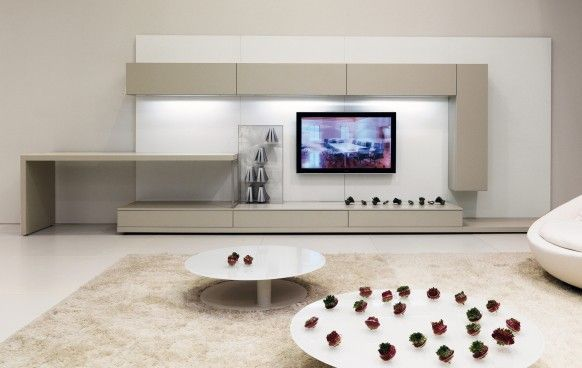 White Minimalist Living Room Interior Design Inspiration | For The