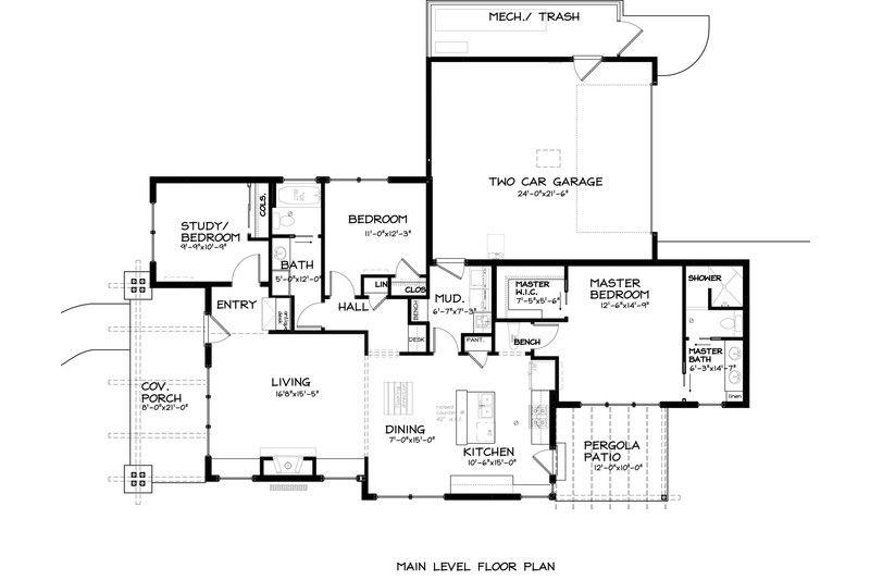 Craftsman Style House Plan - 3 Beds 200 Baths 1592 Sq/Ft Plan #895