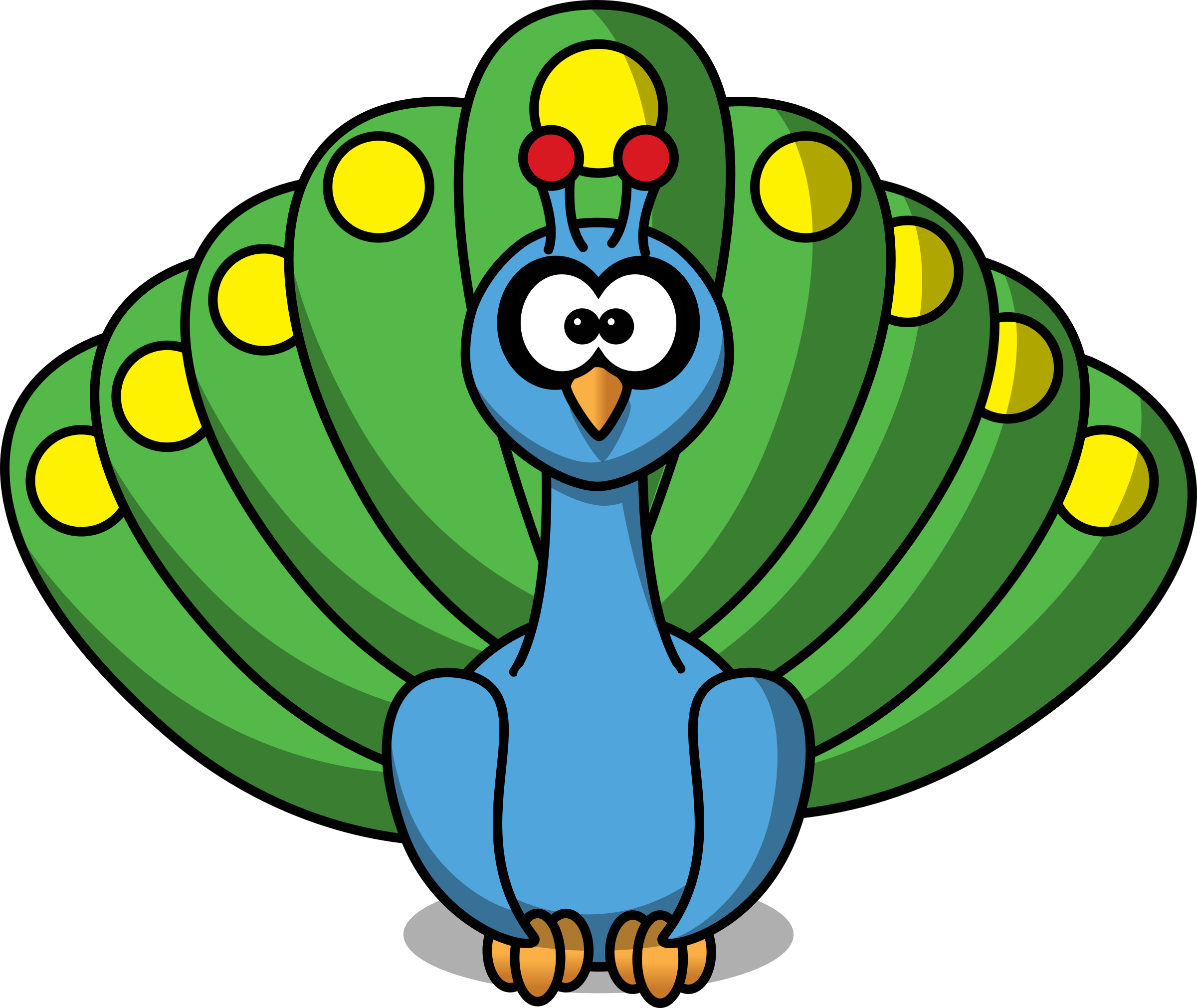 cartoon peacock by studiofibonacci clip art pinterest peacock rh pinterest co uk peacock clipart images