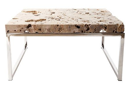 Cheese Stone Rectangle Coffee Table Stone Furniture