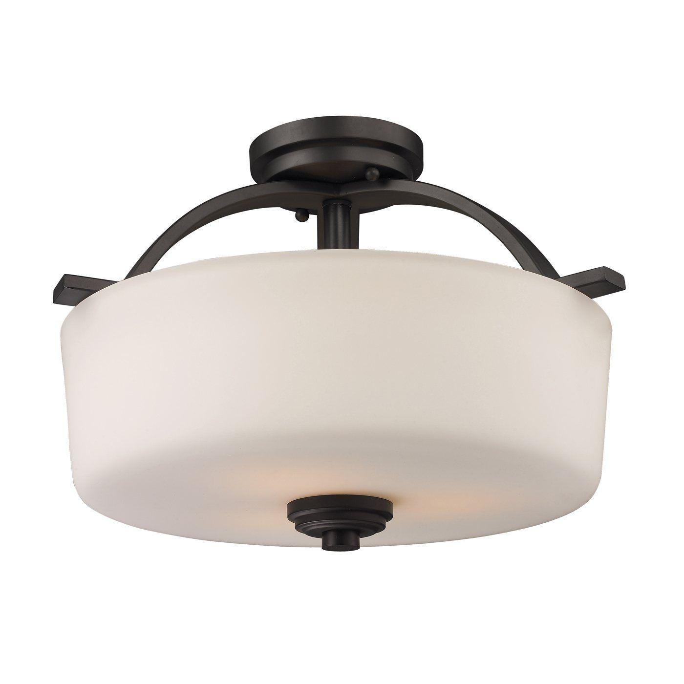 Lowes z lite 220sf 3 light arlington semi flush mount ceiling light lowes canada 184