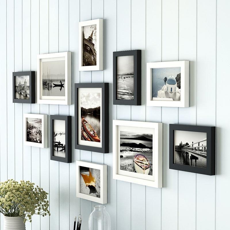 Ensemble 11pcs En Bois Multi Photo Cadre Photo Frames Mur De Hang