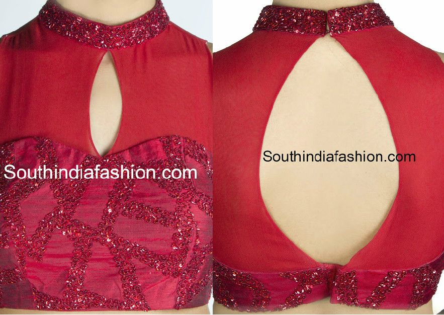 Classy High Neck Blouse Designs: 10 Trendy Patterns