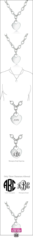 Bling Jewelry Etiqueta de corazón en plata esterlina Collar encanto grabado gratis de 16 pulgadas  ✿ Joyas para niñas - Regalos ✿ ▬► Ver oferta: https://comprar.io/goto/B00M4N3ZX0