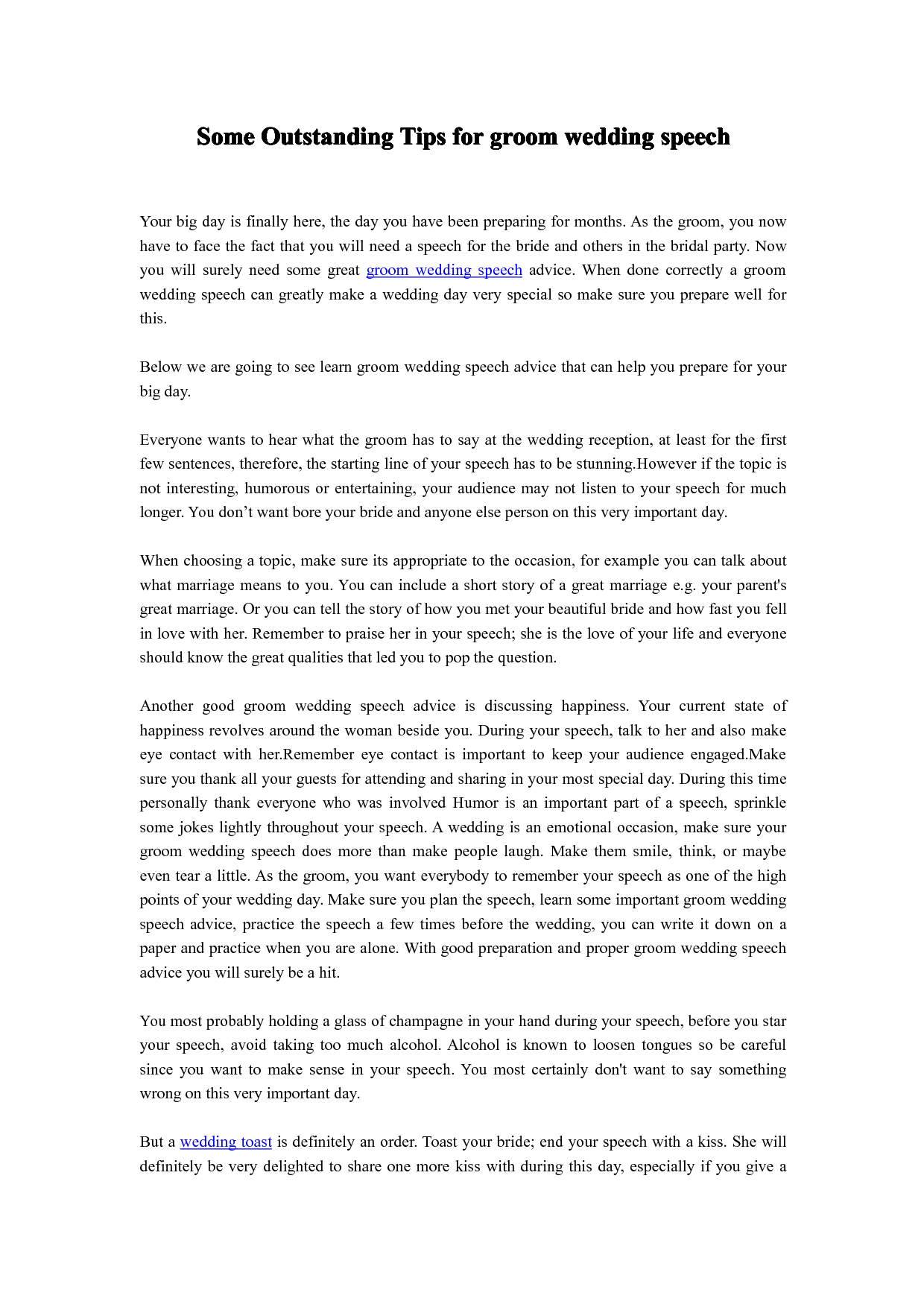 Best Man Speech Example Best Man Speech Best Man Speech Template Best Man Speech Examples