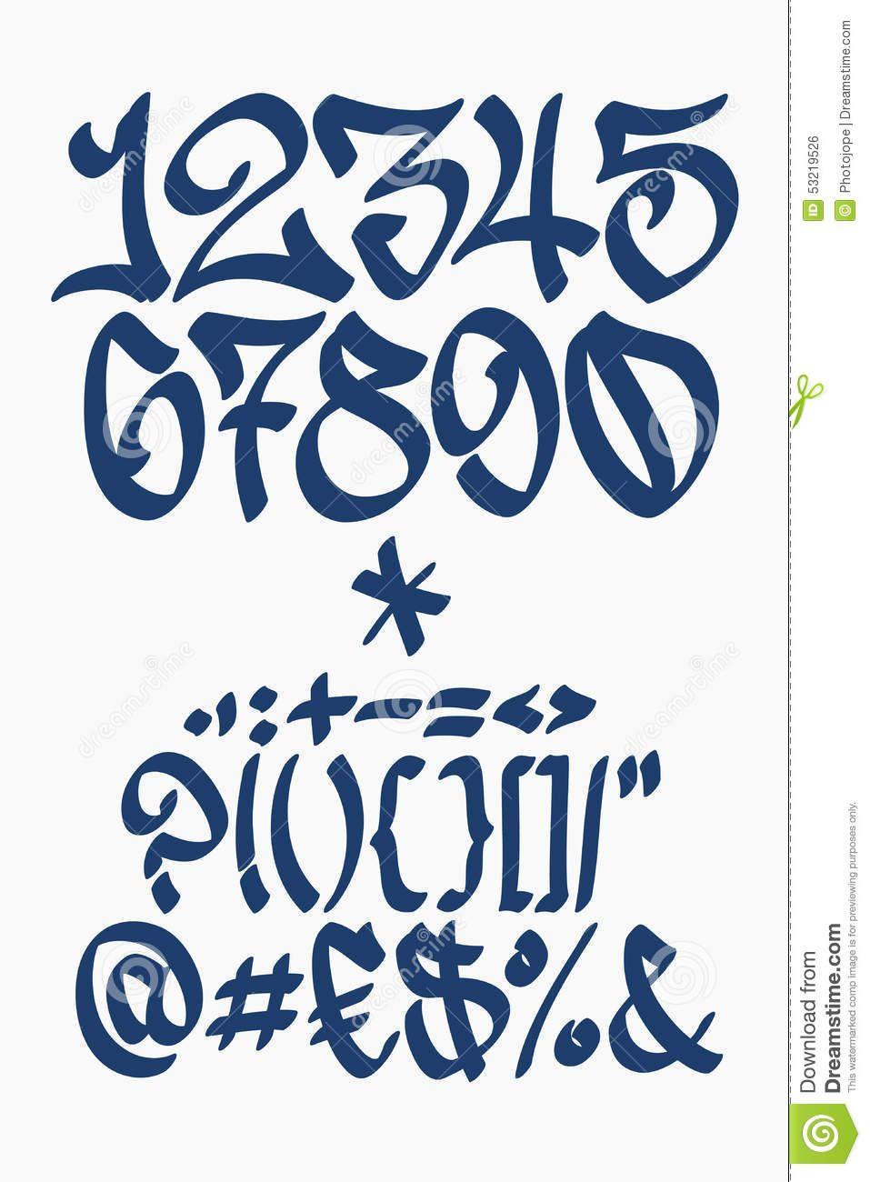 image result for number fonts