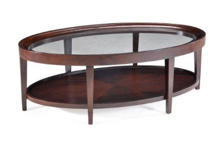 Amazon.com: Magnussen T1632-47 Carson Sienna Finish Wood Oval Cocktail Table: Furniture & Decor