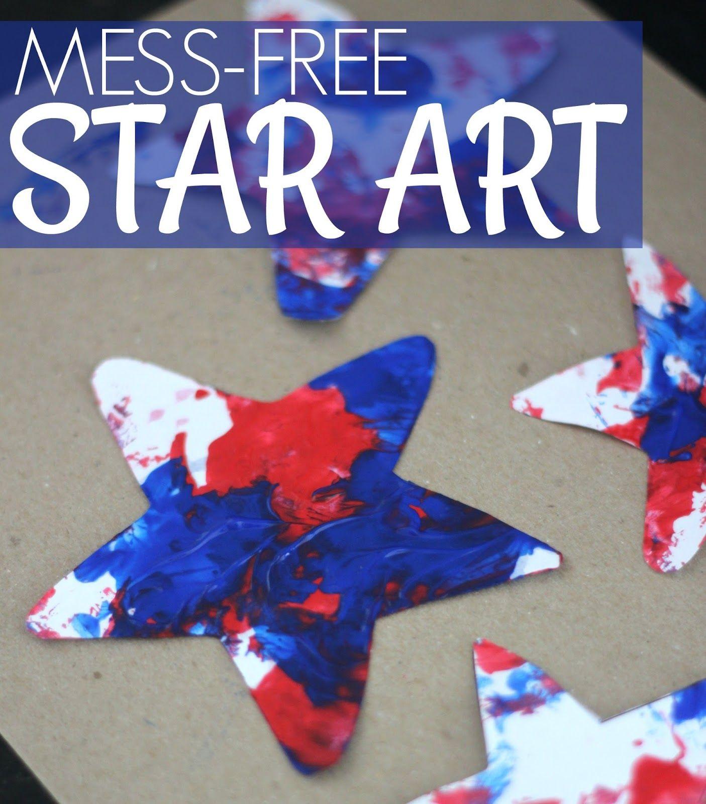 Mess Free Patriotic Star Painting