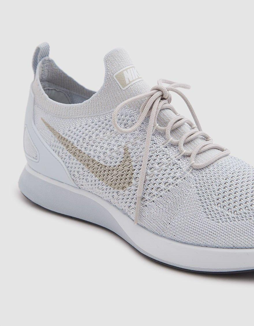 Nike Air Zoom Mariah Flyknit Racer Shoe In Pure Platinu Womens Running Shoes Nike Shoes