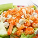 Buffalo Shrimp Salad #buffaloshrimp