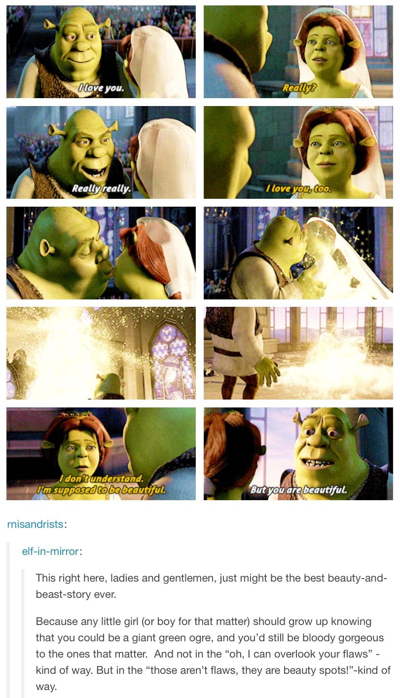 Yes And This Is One Of Many Reasons Why Shrek Is Amazing