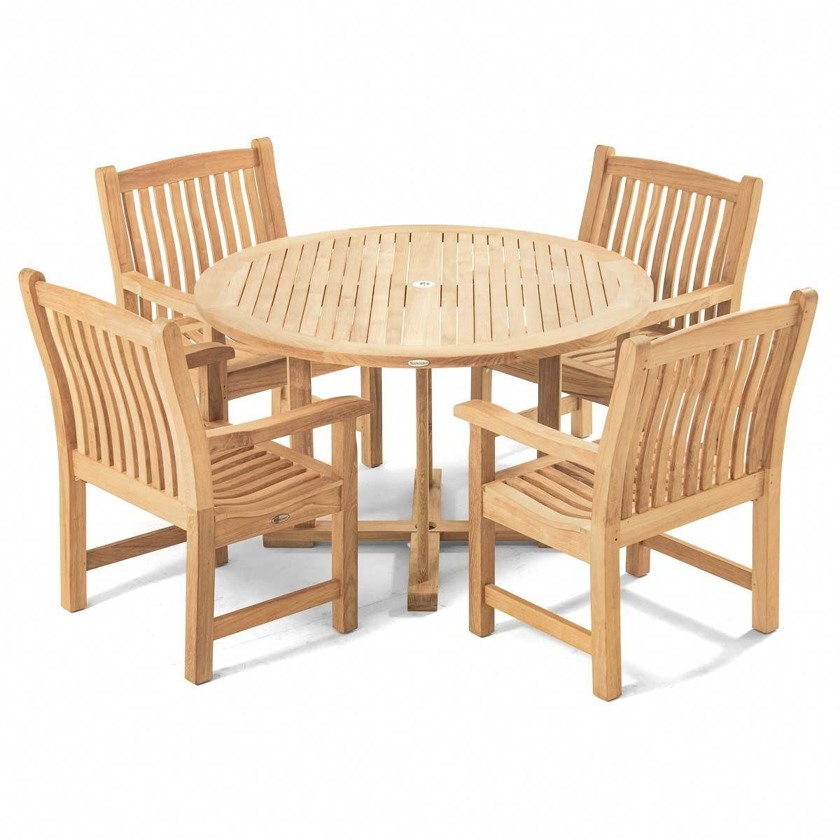 Veranda 4 Ft Round Teak Dining Set Discount Furniture Teak