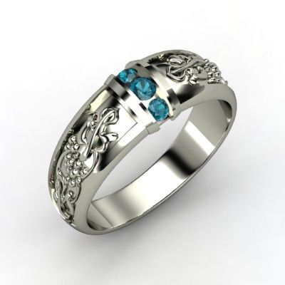 The Bacchus Band #customizable #jewelry #silver #topaz #mens #ring
