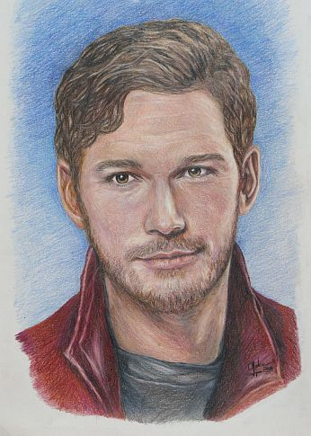 Starlord / Chris Pratt from Guardians of the by CJepsenFineArt