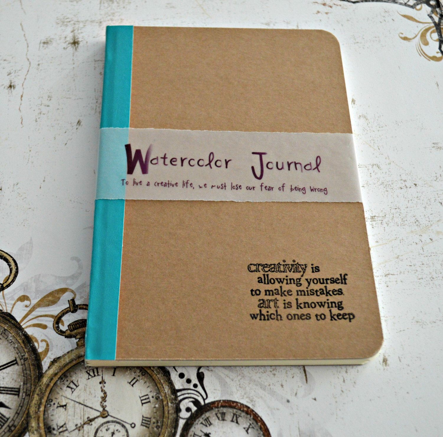 Watercolor Paper Sketchbook Art Journal Notebook Artist Pocket