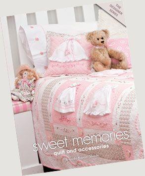 Dresses sewn onto quilts!  Quilt bear  http://kreationsbykaron.com/index.htm