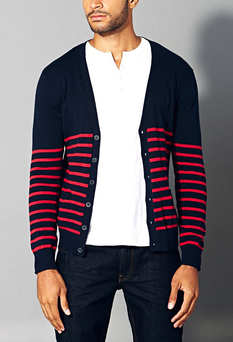 Everyday Striped Cardigan | 21 MEN - 2000092006