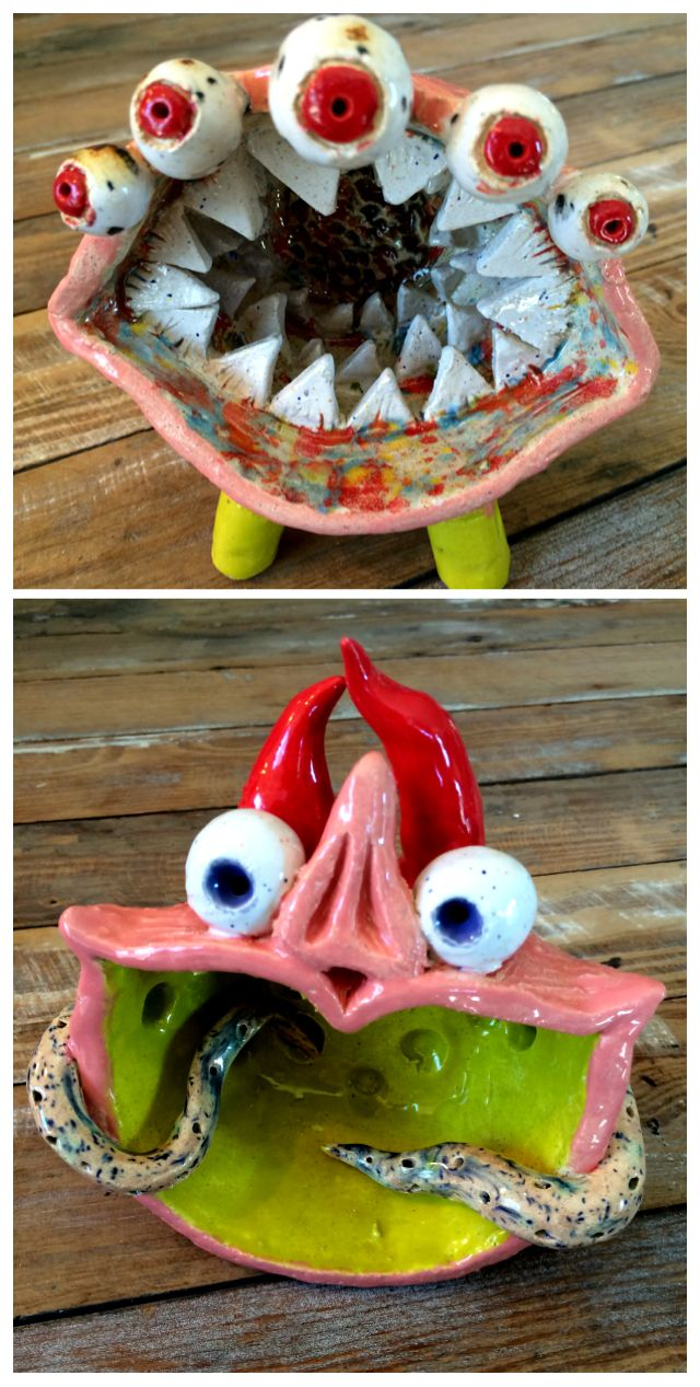 Monster pinch pots | Clay art projects, Clay pinch pots ...