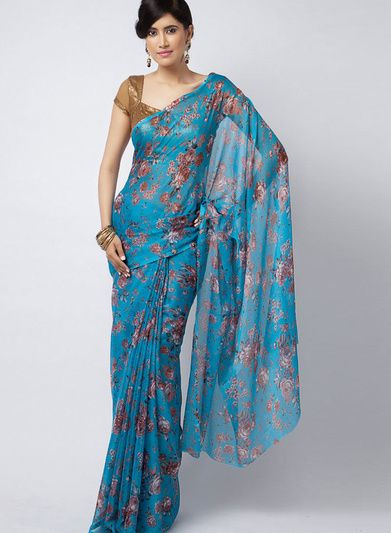 Blue Saree Sarees What To Wear Women
