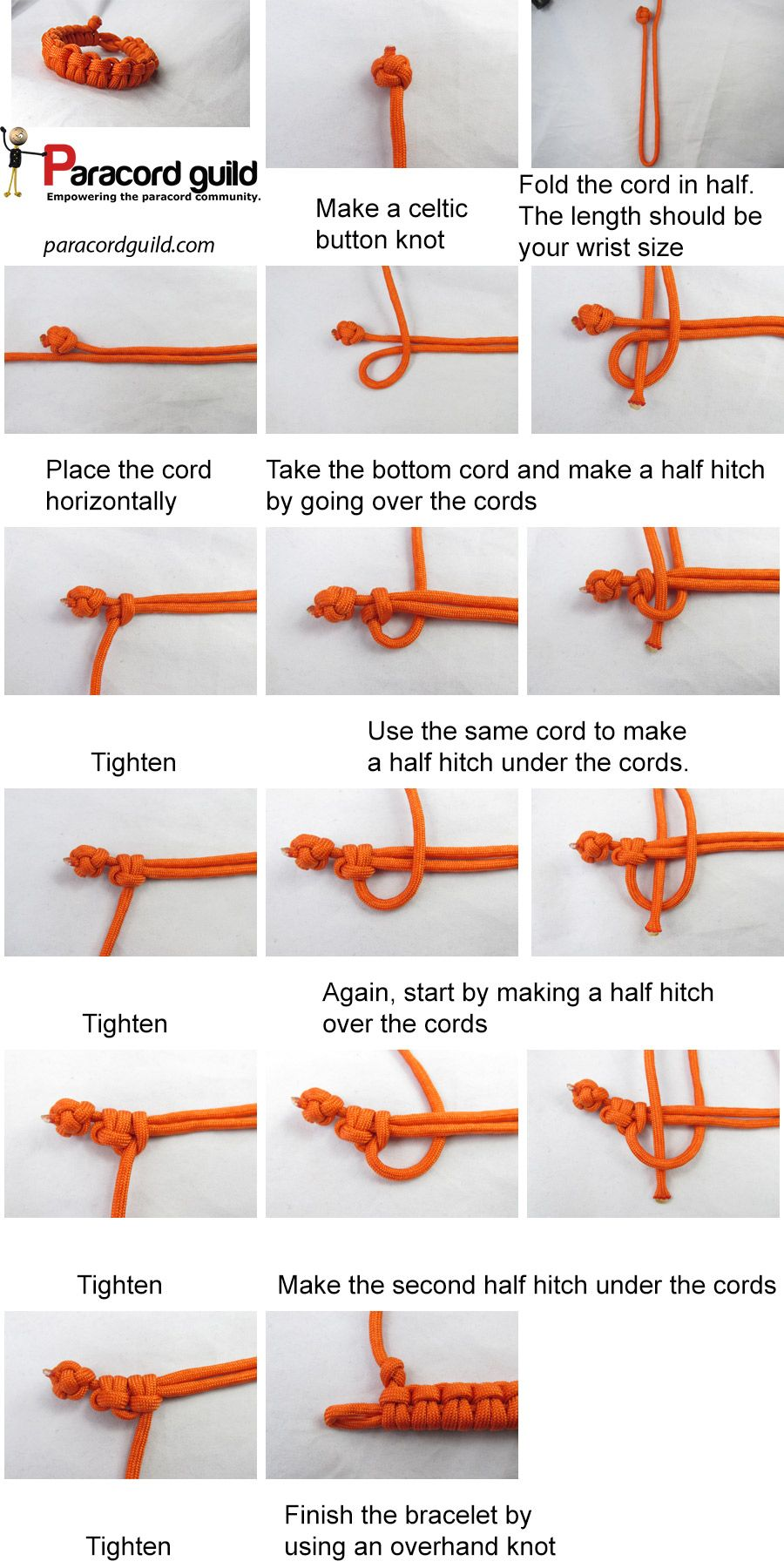 A Tutorial On The Cow Hitch Paracord Bracelet Everythangg