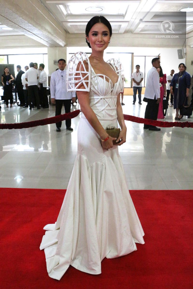 heart evangelista at the sona in my fantasy cage terno